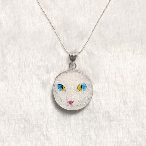 GemsArt Pendant : CA014R25, Cats Collection 25 mm.