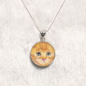 GemsArt Pendant : CA015R25, Cats Collection 25 mm.