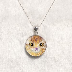 GemsArt Pendant : CA016R25, Cats Collection 25 mm.
