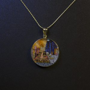 GemsArt Pendant : The Café Terrace at Night, Famous Arts Collection 30 mm.