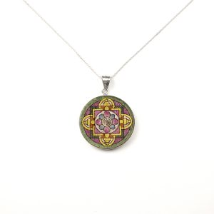 GemsArt Pendant : Fu Mandala, Mandala Collection 30 mm.