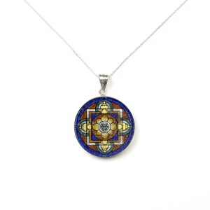 GemsArt Pendant : Lu Mandala, Mandala Collection 30 mm.