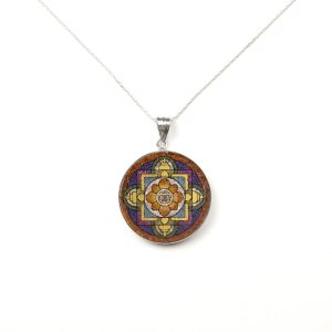 GemsArt Pendant : Shou Mandala, Mandala Collection 30 mm.