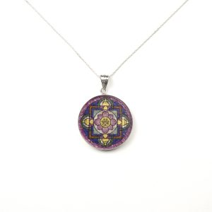 GemsArt Pendant : Shuang Xi Mandala, Mandala Collection 30 mm.