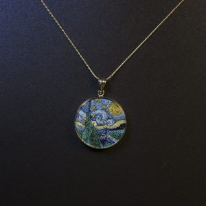 GemsArt Pendant : The Starry Night, Famous Arts Collection 25 mm.