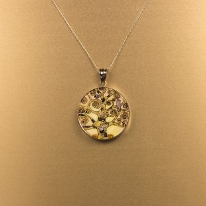 GemsArt Pendant : The Tree of Life, Famous Arts Collection 30 mm.