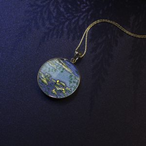 GemsArt Pendant : The Water Lilies, Famous Arts Collection 30 mm.