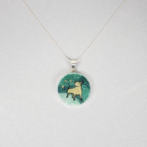GemsArt Pendant : Taurus, 12 Zodiacs Collection 30 mm.