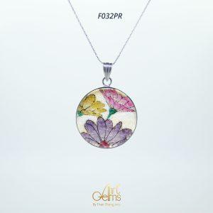 GemsArt Pendant : Fancy Daisy, Flower of Love Collection 30 mm.