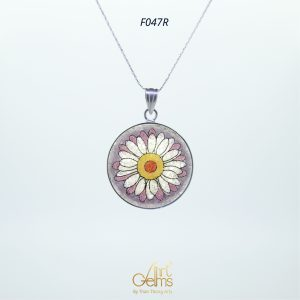 GemsArt Pendant : Daisy, Flower of Love Collection 30 mm.