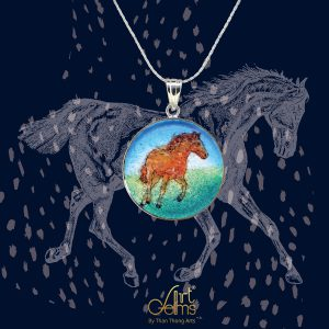GemsArt Pendant : Horse, Wild Life Collection 25 mm.