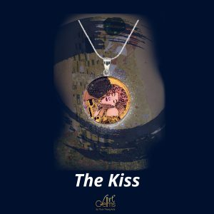 GemsArt Pendant : The Kiss, Famous Arts Collection 25 mm.