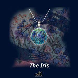 GemsArt Pendant : The Iris, Famous Arts Collection 25 mm.