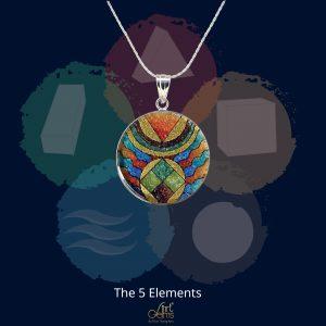 GemsArt Pendant : The 5 Elements, Sign & Symbol Collection 25 mm.